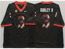 Mens Ncaa Nfl Georgia Bulldogs #3 Todd Gurley Ii Black Fashion Version Jersey