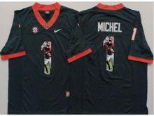 Mens Ncaa Nfl Georgia Bulldogs #1 Sony Michel Black Fashion Version Jersey