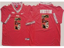 Mens Ncaa Nfl Florida State Seminoles #5 Jameis Winston Red Fashion Version Jersey