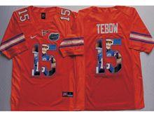 Mens Ncaa Nfl Florida Gators #15 Tim Tebow Orange Fashion Version Jersey