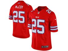 Mens Nfl Buffalo Bills #25 Lesean Mccoy Red Color Rush Limited Jersey