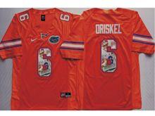 Mens Ncaa Nfl Florida Gators #6 Jeff Driskel Orange Fashion Version Jersey