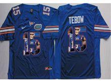 Mens Ncaa Nfl Florida Gators #15 Tim Tebow Blue Fashion Version Jersey