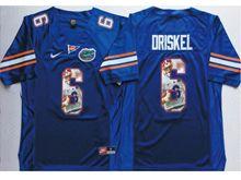 Mens Ncaa Nfl Florida Gators #6 Jeff Driskel Blue Fashion Version Jersey