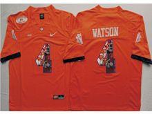 Mens Ncaa Nfl Clemson Tigers #4 Deshaun Watson Orange Fashion Version Limited Jersey