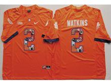 Mens Ncaa Nfl Clemson Tigers #2 Sammy Watkins Orange Fashion Version Limited Jersey