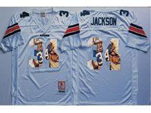Mens Ncaa Nfl Auburn Tigers #34 Bo Jackson White Fashion Version Jersey