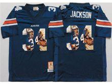 Mens Ncaa Nfl Auburn Tigers #34 Bo Jackson Blue Fashion Version Jersey