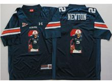 Mens Ncaa Nfl Auburn Tigers #2 Cameron Newton Blue Fashion Version Jersey