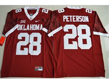 Mens Ncaa Nfl Oklahoma Sooners #28 Adrian Peterson Red Limited Jersey