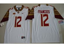 Mens Ncaa Nfl Florida State Seminoles #12 Deondre Francois White Limited Jersey