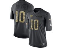 Mens Nfl New York Giants #10 Eli Manning Black Anthracite 2016 Salute To Service Jersey