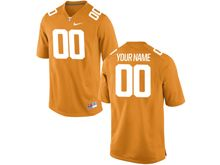 Mens Ncaa Nfl Tennessee Volunteers (custom Made) Orange Jersey