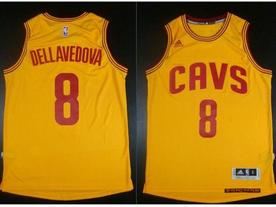 Mens Nba Cleveland Cavaliers #8 Matthew Dellavedova Yellow Jersey