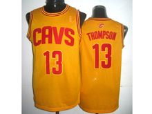 Mens Adidas Cleveland Cavaliers #13 Tristan Thompson Yellow Jersey
