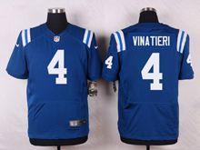 Mens   Indianapolis Colts #4 Adam Vinatieri Blue Elite Jersey