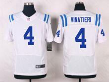 Mens   Indianapolis Colts #4 Adam Vinatieri White Elite Jersey