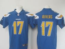 Mens   San Diego Chargers #17 Philip Rivers Blue Color Rush Limited Jersey
