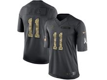 Mens   Atlanta Falcons #11 Julio Jones Black 2016 Salute To Service Jersey