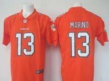Mens   Miami Dolphins #13 Dan Marino Orange Color Rush Limited Jersey