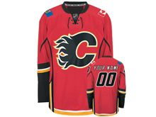 Reebok Calgary Flames (custom Made) Red Jersey