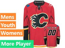 Mens Women Youth Reebok Calgary Flames Red Home Premier Jersey