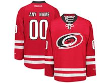 Reebok Carolina Hurricanes (custom Made) Red Jersey