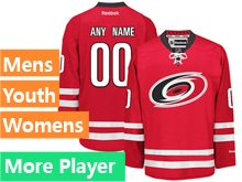 Mens Women Youth Reebok Carolina Hurricanes Red Home Premier Jersey
