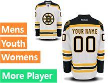 Reebok Boston Bruins White Away Premier Jersey