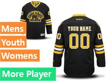 Reebok Boston Bruins Black Alternate Premier Jersey