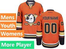 Reebok Anaheim Ducks Orange Alternate Premier Jersey