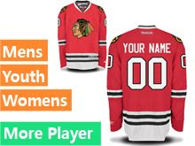 Mens Women Youth Reebok Chicago Blackhawks Red Home Premier Jersey