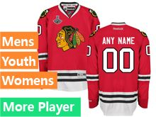 Mens Women Youth Reebok Chicago Blackhawks Red 2015 Stanley Cup Champions Jersey