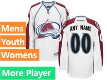 Reebok Colorado Avalanche White Away Premier Jersey