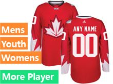 Mens Women Youth Adidas Team Canada Red 2016 World Cup Hockey Jersey