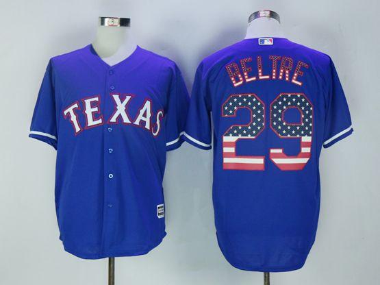 Mens Mlb Texas Rangers #29 Beltre Blue Usa Flag Jersey