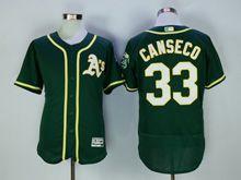 Mens Majestic Mlb Oakland Athletics #33 Canseco Green Flex Base Jersey