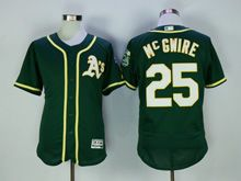 Mens Majestic Mlb Oakland Athletics #25 Mcgwire Green Flex Base Jersey