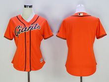 Women Majestic Mlb San Francisco Giants Blank Orange Jersey