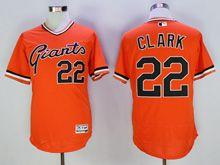 Mens Mlb San Francisco Giants #22 Clark Orange Pullover Flex Base Jersey