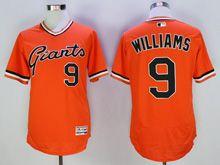 Mens Mlb San Francisco Giants #9 Williams Orange Pullover Flex Base Jersey