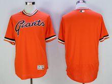 Mens Mlb San Francisco Giants Blank Orange Pullover Flex Base Jersey