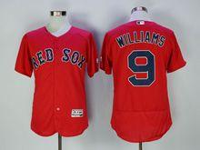 Mens Majestic Mlb San Francisco Giants #9 Williams Red Flex Base Jersey