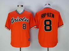 Mens Mlb Baltimore Orioles #8 Cal Ripken Orange Throwbacks Jersey