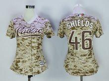 Women Mlb Pittsburgh Pirates #46 Shields Camo Jersey