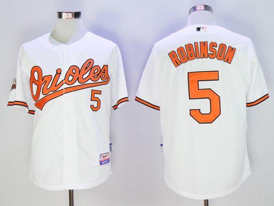 Mens Mlb Baltimore Orioles #5 Robinson White Jersey
