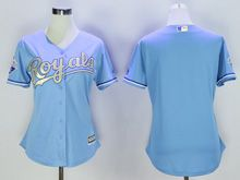 Women Mlb Kansas City Royals Blank Light Blue Jersey