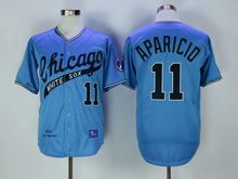 Mens Mlb Chicago White Sox #11 Aparicio Blue 1968 Throwbacks Jersey