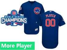 Mens Majestic Chicago Cubs Blue 2016 World Series Champions Flex Base Jersey
