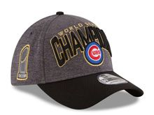 Mens Chicago Cubs New Era Graphite Black 2016 World Series Champions Locker Room On Field 39thirty Flex Hats